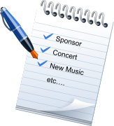 Sponsor Concert New Music etc….